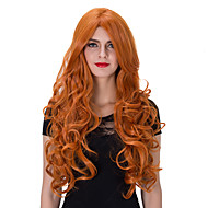 The European and American fashion Orange long curly hair