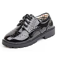לבנים-נעלי אוקספורד-עורשחור שחור ולבן-יומיומי-עקב שטוח