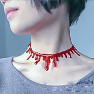 3szt kostiumy halloween krwawe cięte naszyjnik krwi doprowadzić do regulacji symulacji łańcucha odpowietrzającą krew kapiącą naszyjnik