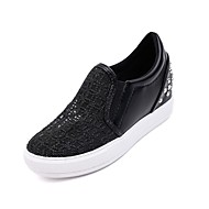 Women's Flats Summer / Fall Wedges Synthetic Casual Wedge Heel Gore Black / White Others