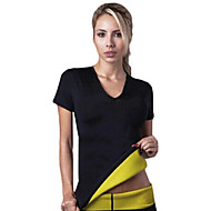 shapers quentes mulheres camisetas neoprene emagrecimento traning suando shapewear