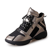 Women's Sneakers Fall / Winter Mary Jane / Tulle Athletic / Casual Flat Heel Others / Lace-up Black / Red / Gray
