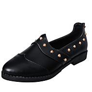 Dame-PU-Lav hæl-Spiss tå-一脚蹬鞋、懒人鞋-Fritid-Svart / Rød / Grå