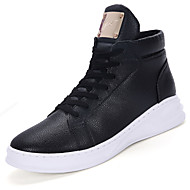 Boty-PU-Pohodlné / Kombat boty / Pracovní obuv-Pánské-Černá / Bílá-Outdoor / Běžné / Atletika-Nízký podpatek