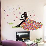 Desenho Animado Wall Stickers Autocolantes de Aviões para Parede Autocolantes de Parede Decorativos / Autocolantes de Casamento,PVC