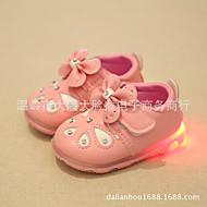לבנות-נעלי ספורט-PU-נעלי בובה (מרי ג'יין)-אדום / לבן / אפור-קז'ואל-עקב שטוח