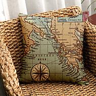 1PC Household Articles Back Cushion Novelty Originality Fashionable Map Single Pillow Case