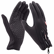 スキー手袋 フルフィンガー フリーサイズ スポーツグローブ 保温 / 防風性 / 耐雪性 手袋 スキー / レジャースポーツ ライクラ スキーグローブ ピンク / ブラック