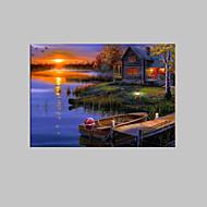 Landskap Lerret Print Et panel Klar til å henge , Lodrett