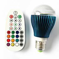 9 GU10 / B22 / E26/E27 נורות גלוב לד A60(A19) 3 לד בכוח גבוה 450 lm RGB עמעום / מופעל על ידי קול / עובד עם שלט רחוק AC 100-240 V חלק 1