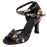 Chaussures de danse(Autre) -Personnalisables-Talon Personnalisé-Satin / Similicuir-Latine / Salsa