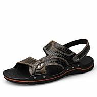 Szandálok-Lapos-Női cipő-Szandálok-Alkalmi-Bőr-Fekete / Kék / Vörös