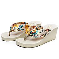 Women's Slippers & Flip-Flops Summer Slingback Silk Casual Wedge Heel Others