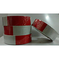 hexagon honingraat vormige rode en witte lichaam reflecterende stickers / rooster lichaam plakken