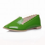 Casual Womens Girls Flats Point Toe Comfort Office Low Heel Dress Shoes Black/Pink/Red/Yellow/Orange/Apricot/Green