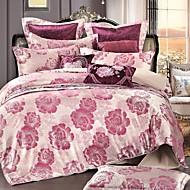 Bedtoppings Cotton Rich Jacquard Embossed 4pcs Duvet Cover Set