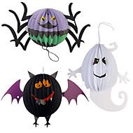 lustige Halloween-Kürbis große Größe Geister Spinne Fledermaus Skelett Lampe Papierlaternen Dekoration Partei