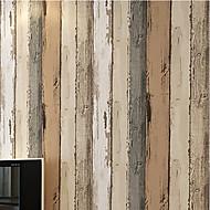 Riscas / Madeira Papel de Parede Para Casa Retro Revestimento de paredes , Papel não tecido Material adesivo necessário papel de parede ,