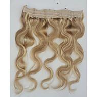 20 לא להעיף חוט אחד חתיכת קליפ בשלל צבעים 80g הארכת שיער אדם אמיתי