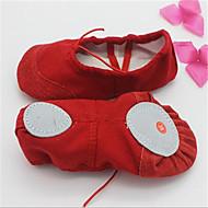 Dame-Lerret-Flat hæl-Lukket tå-Boat Shoes-Friluft / Fritid-Svart / Rød / Hvit