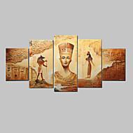 handbemalte abstrakten alten ägyptischen Ölgemälde auf Segeltuch 5pcs / set keinen Rahmen
