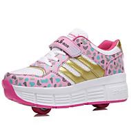 יוניסקס-נעלי ספורט-עור-נעלי סקטים-כחול / ורוד-שטח / ספורט-עקב נמוך
