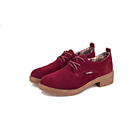 Women's Oxfords Spring Fall Mary Jane Leatherette Casual Low Heel Others Black Yellow Burgundy Others