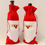 1 stk rødvin flaske dekselet til Julenissen julemiddagsbordet dekorasjon hjem fest