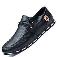 Men's Oxfords Spring / Fall / Winter Comfort Casual Flat Heel Lace-up Black / White / Black and White Others