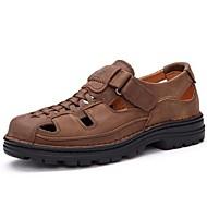 Men's Sandals Summer Leather Casual Flat Heel