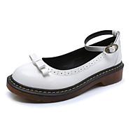 Черный / Желтый / Белый-Женский-На каждый день-Дерматин-На низком каблуке-С закрытым носком / Удобная обувь / С круглым носком-Туфли на