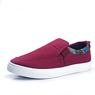 Men's Loafers & Slip-Ons Spring / Fall Comfort Canvas Outdoor / Casual Flat Heel Lace-up Black / Blue / Red Sneaker