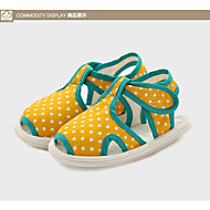 Unisex Flats Spring / Summer / Fall Flats Silica Gel Casual Flat Heel Polka Dot Yellow Others