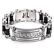 Муж. Браслеты-цепочки и звенья Нержавеющая сталь Мода Геометрической формы Серебряный Бижутерия 1шт
