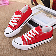 Unisex Sneakers Spring / Summer / Fall Flats Canvas Casual Flat Heel Black / Blue / Red / White Sneaker