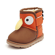 Boy's Boots Fall / Winter Snow Boots Leatherette Outdoor / Casual Flat Heel Others Brown Walking