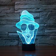 עישון מגע עמעום 3D LED מנורת לילה מנורת אווירת קישוט 7colorful תאורת חידוש אור חג המולד