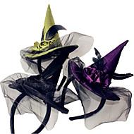 1pcs Witch Head Hoop Halloween Witch Head Buckle Halloween Props Party Supplies