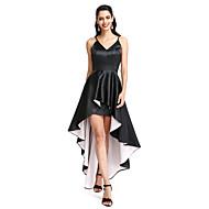 TS Couture® Cocktail Vestito Linea-A Con bretelline Asimmetrico Raso elasticizzato con