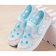 Girl's Flats Spring / Fall Comfort Tulle Outdoor / Casual Flat Heel Polka Dot Blue / Pink Walking