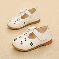 Unisex Sandals Spring / Summer / Fall / Winter Sandals PU Outdoor / Dress Flat Heel Flower Pink / White Walking