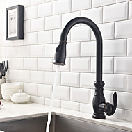 Traditional Pull-out/Pull-down Deck Mounted Pullout Spray with  One Hole for Oil-rubbed Bronze  Kitchen