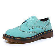 Women's Oxfords  Comfort / Round Toe / Closed Toe Casual Low Heel Lace-upBlack / Blue / Gray / Royal