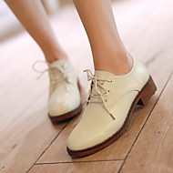 Oxford-kengät-Tasapohja-Naiset-Tekonahka-Musta Beesi Ruskea-Rento-Comfort