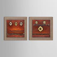 Maalattu Abstrakti / Fantasy öljymaalauksia,Moderni / Realismi / Välimeren / European Style 2 paneeli Kanvas Hang-Painted öljymaalaus For