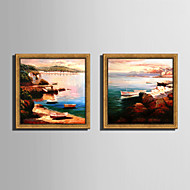E-HOME® Framed Canvas Art,  Scenery of The Coast Framed Canvas Print One Pcs
