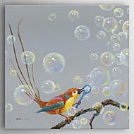 Oil Painting Impression Bird Hand Painted Canvas Painting with Stretched Framed Ready to Hang