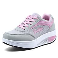 Damen-Sneaker-Büro Lässig Sportlich-Tüll-Keilabsatz CreepersBlau Rosa