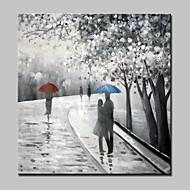 Peint à la main Abstrait / Paysage / Personnage / Paysages Abstraits Peintures à l'huile,Modern Un Panneau ToilePeinture à l'huile