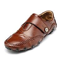 Men's Flats Spring / Fall Comfort / Round Toe Pigskin Casual Flat Heel Others Black / Brown Walking